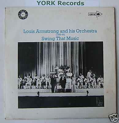 LOUIS ARMSTRONG - Swing That Music - Ex Con LP Record
