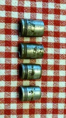 VINTAGE LOT OF 4 CRAFTSMAN 3/8  INCH DRIVE 12 point and 8 point