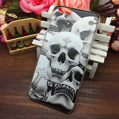 New For iphone 6 Hard Case 4.7 Painted Pattern Thin Cover Skull 40