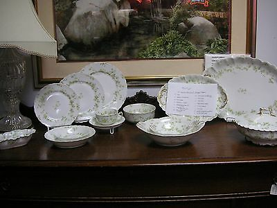 Haviland Limoges - 85 Pieces of Elegant Design China #24 As Is condition