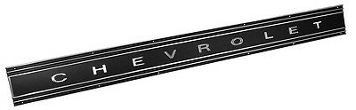 1969 1970 1971 1972 CHEVROLET TRUCK BLACK TAILGATE BAND W CHROME LETTERS NEW