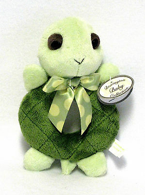 """6"""" PLUSH TOY TURTLE RING RATTLE """"LIL TIGGLES"""" #197470 BEARINGTON BABY COLLECTION"""