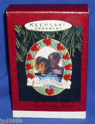 Hallmark Photo Holder Ornament Our First Christmas Together 1993