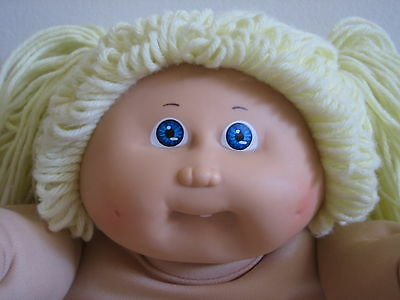 """VINTAGE 1982 CABBAGE PATCH KIDS DOLL OK FACTORY 16"""" BLONDE HAIR BLUE EYES TOOTH"""