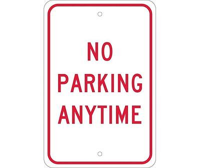 "NMC TM2J Safety Sign ""NO PARKING ANYTIME"" 18""x12"" .08 Reflective Aluminum(EGP)"