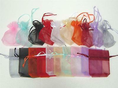 50PCS MIXED Organza Bags Large Size Jewelry Gift Pouches 16 X 14 X 4cm AH017B