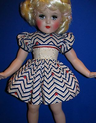 RARE 1950s Factory 4th of July DRESS for P93 Toni! DRESS ONLY!  NO DOLL!