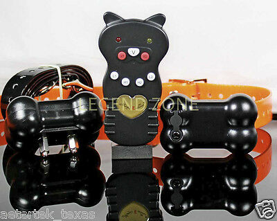 400 Yard Rechargeable Remote 2 Dog Training Shock E Collar Vibrate Bark Trainer