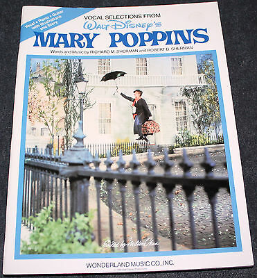 WALT DISNEY'S MARY POPPINS SONG AND STORY BOOK VOCAL, PIANO, GUITAR 1984