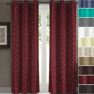 Willow Grommet Blackout Thermal Insulated Window Curtain Panels Pair (Set of 2)