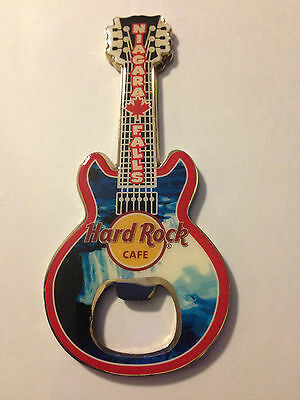 Hard Rock Cafe Niagara Falls Canada Guitar Bottle Opener Magnet Falls pic NEW!