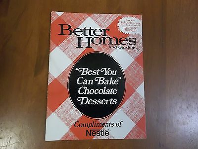 vintage Better Homes & Gardens recipe booklet, bake with Nestle Chocolate Chips