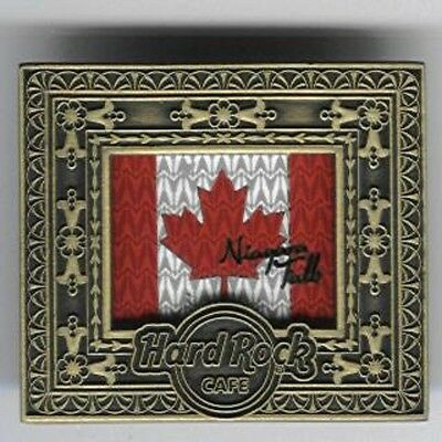 Hard Rock Cafe Niagara Falls Canada Art Frame Series Canada Flag Pin