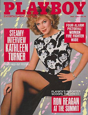 Playboy Magazine May 1986 Kathleen Turner Interview Ron Reagan at the Summit
