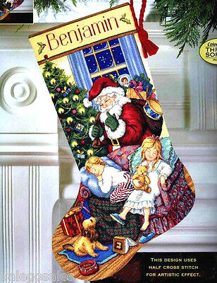 """Dimensions Gold Counted Cross Stitch kit 16"""" ~ SWEET DREAMS STOCKING Sale #08740"""