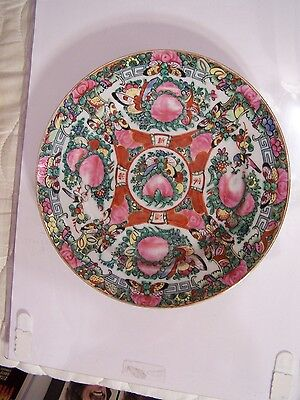 Birds & Butterfly Hand Painted Plate Hong Kong China Chinese Porcelain 9'' Dia