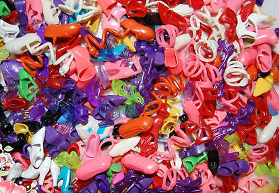 Lot 20 Pairs Brand New Beautiful Barbie Doll Shoes Xmas Birthday Gift 2