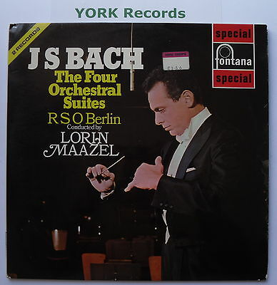 SFL 14136-7 - BACH - The Four Orchestral Suites MAAZEL- Ex Con Double LP Record