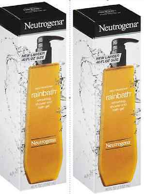 NEUTROGENA RAINBATH REFRESHING SHOWER & BATH GEL 80 oz 2 x 40 ounce bottles