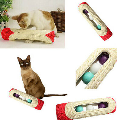 FD1688 Pet Cat Kitten Kitty Toy Rolling Sisal Scratching Trapped Ball Training