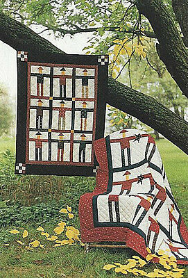 PATTERN Primitive Americana Oklahoma Boomer Quilt by Country Threads UNCUT OOP