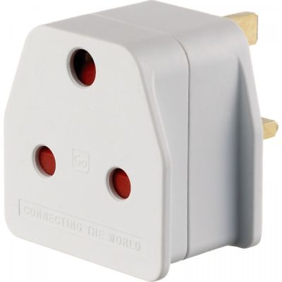 Go Travel - South African Visitor - Plug Adaptor for the UK - Converts SA to UK