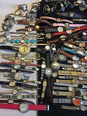 HUGE Lot of 100+ Watches for Repair, New Batteries, Harvest, Crafting