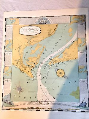 Columbia River Entrance Map.- 1936 Reproduction