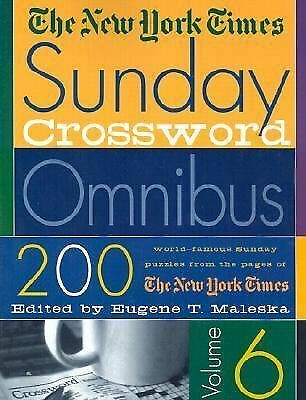 The New York Times Sunday Crossword Omnibus- vol 6 by The New York Times
