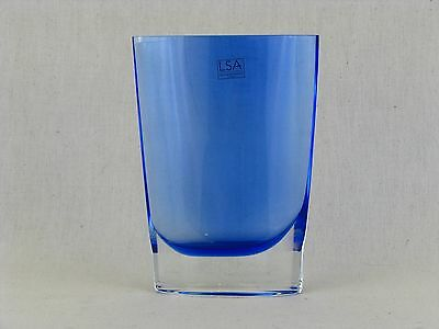 LSA INTERNATIONAL Cobalt Blue Flower Vase Handcrafted & Mouthblown in Poland