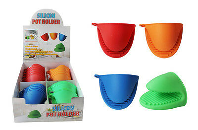 "Durable Silicone Oven Mitt Pot Holder 4"" x 3 1/4"" Heat Resistant Kitchen Cooking"