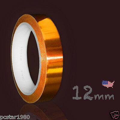 NEW Heat Resistant High Temperature Adhesive Tape dye sublimation 12 mm x 50 ft