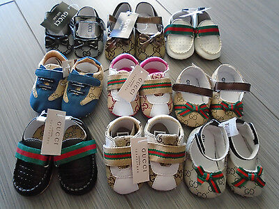 NEW with tag Gucci Baby Toddler Girl&Boy Soft Sole Shoes 0-18M 9 options