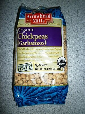 ORGANIC Chickpeas, 1-Pound Unit (Pack of 4) by Arrowhead Mills