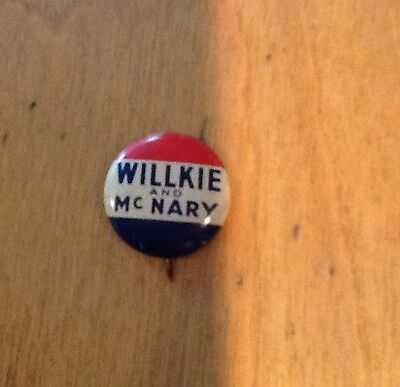 Willkie And McNary LAPEL PIN - Vintage