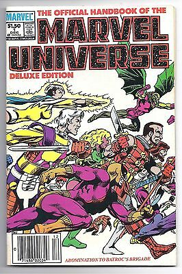 The Official Handbook Of The MARVEL UNIVERSE #1 Deluxe Edition 1985 * VG *