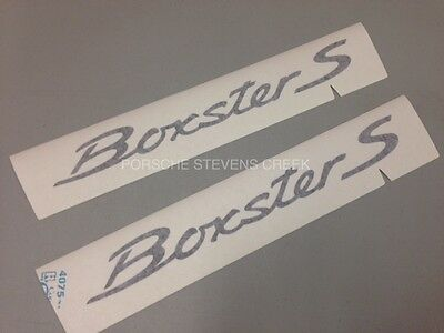 Porsche Boxster S Decorative Film Logo Decal Sticker Set BLACK OEM 981