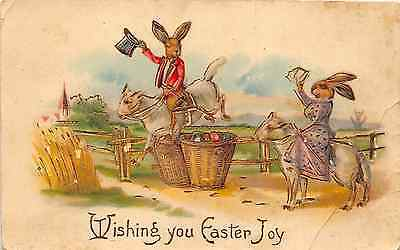 Lot of 2 Early/Vintage Easter w/Gilding Made in Germany Postcards #44016