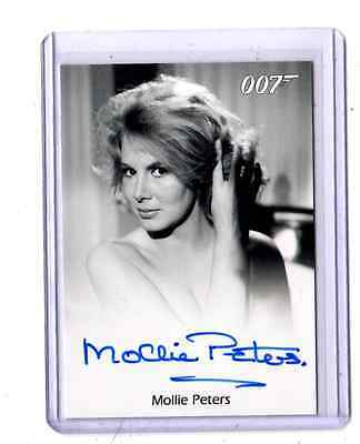 James Bond 50th Anniversary. Molly Peters auto card