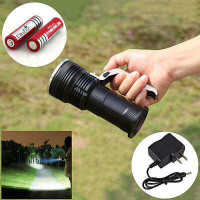 2000 Lumen CREE LED Rechargeable Flashlight Lamp Torch +2x18650 Battery& Charger