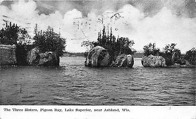 Lot of 4 Early/Vintage Wisconsin Lakes Early to Mid 1900's Postcards #33867
