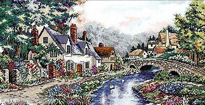 """Dimensions Gold Counted Cross Stitch Kit 20"""" x 10"""" ~ VALLEY OF RIVER BECK #03753"""