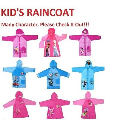 NEW Sz 3~8 RAINCOAT PINK BLUE RAIN COAT DRESS JACKET GIRLS KIDS BOY FROZEN CARS