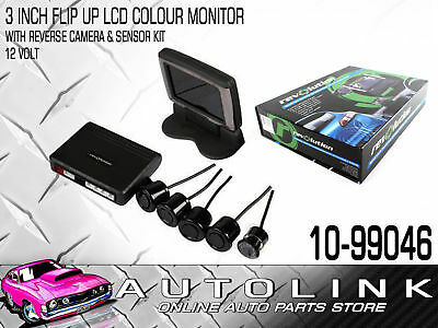 Lcd Colour Monitor & Camera Kit With Reversing Sensors - Audible Alarm