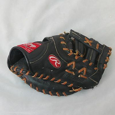RAWLINGS RENEGADE RFB leather Right HANDED FIRST BASEMAN BASEBALL GLOVE BLACK 2
