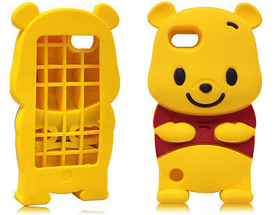 Disney 3D Cute Winnie The Pooh Bear Soft Case Cover for iPod Touch 5 5G 5TH GEN