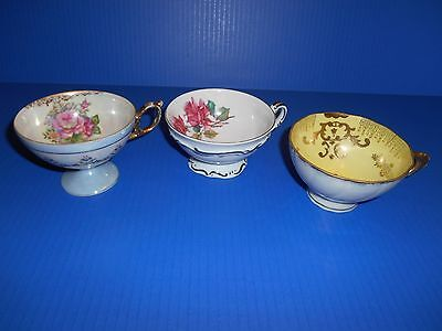 Mixed Lot of 3 Orphan Teacups Dresden & Others