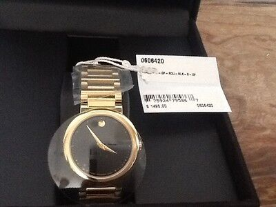 MOVADO CONCERTO BLACK DIAL WOMEN'S GP MUSEUM WATCH *NEW IN BOX*