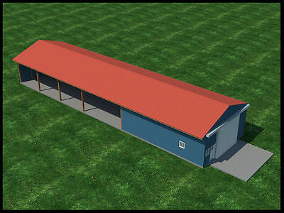 Build your own 30' Wide Pole Shed / Barn (DIY Plans) Fun to build! Save money!