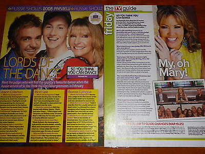 SO YOU THINK YOU CAN DANCE (AUSTRALIA & USA) Magazine Clippings (CAT DEELEY)